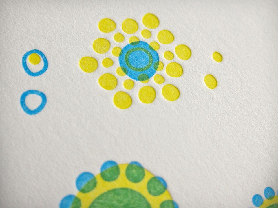 Farbe-Overprint